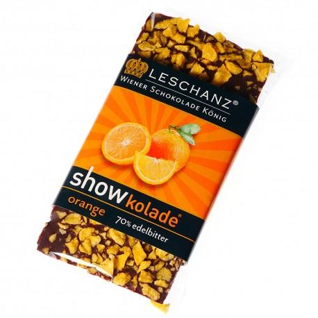 Leschanz Zartbitterschokolade Orange 50gr