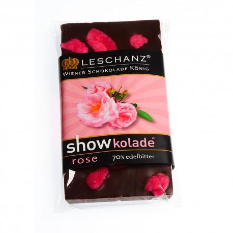 Leschanz Zartbitterschokolade Rose 50gr