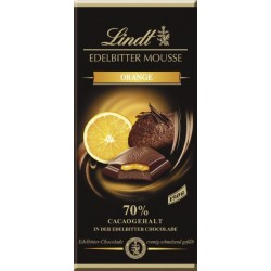 Lindt chocolate extra dark mousse Orange 150gr