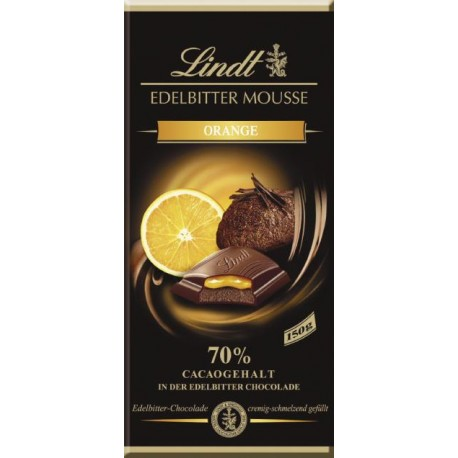 Lindt chocolate extra dark mousse Orange 150gr