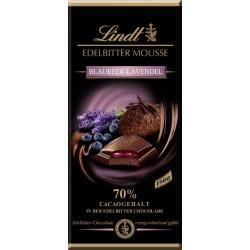 Lindt Schokolade Edelbitter Mousse Blaubeer-Lavendel 150gr