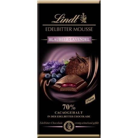 Lindt chocolate extra dark mousse Blueberry Lavender 150gr