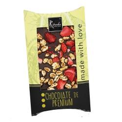 Ritonka Bitter-Schokolade Pflaume, Erdbeere, Walnuss 95gr