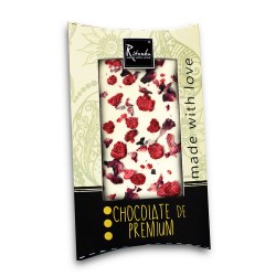 Ritonka Weiße-Schokolade Himbeere, Rosenblättern 95gr