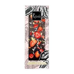 Ritonka Bitter-Schokolade Erdbeere, Kornblume, Gold - Gourmet Selection 130gr