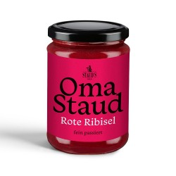 Oma Staud Red Currant Jam finely sieved 450gr