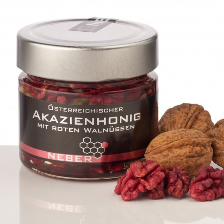 Neber Acacia Honey with red Walnuts 240g