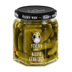 "Staud's ""Piccolo Gherkins - sweet sour"" 228ml"