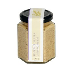 Lustenauer Mustard with Grappa and raisins 190g
