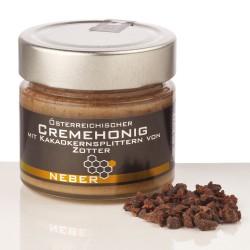 Neber Cremehonig mit gehackten Kakaokern-Splittern 250g