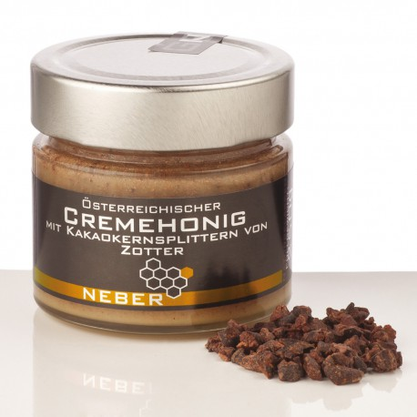 Neber Honey Whipped with Chopped Cacao Beans 250g