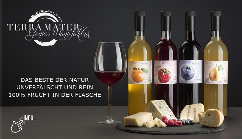Terra Mater - das Beste der Natur unverfälscht und rein - 100% Frucht in der Flasche